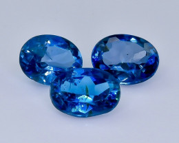 4.39 Crt London Blue Topaz Lot Faceted Gemstone (Rk-15)