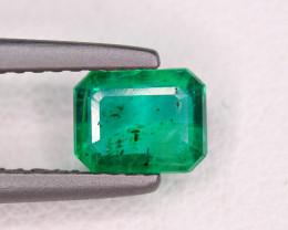 0.73Carat Top Green Emerald Transparent Cut Gemstone