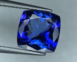 ~No Reserve~4.20(ct) Seductive Purplish Blue Color Tanzanite