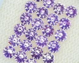 *NR Marathon* 3mm Purple Pink Sapphire set 2.57Cts