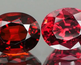 Beautiful Red Spinel Pair 1.48Ct