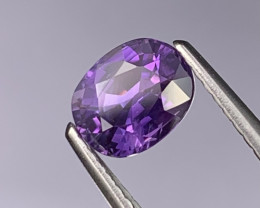 1.30 Cts Certified Srilanka Royal Purple AAA Unheated/Untreated Sapphire