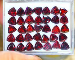 29.65ct Natural Almandite Garnet Trillion Cut Lot V9115