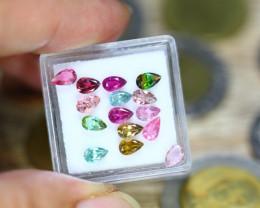 3.43ct Natural Mozambique Fancy Color Tourmaline Pear Cut Lot V9143