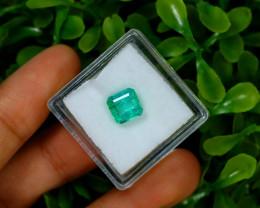Emerald 1.90Ct Colombian Muzo Emerald Neon Mint Green Beryl B1201