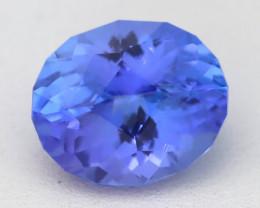 Tanzanite 4.84Ct VVS Precision Cut Unheated Vivid Blue Tanzanite B1207