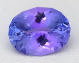 Tanzanite 2.63Ct VVS Master Cut Unheated Purplish Blue Tanzanite B1215