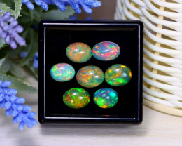Welo Opal 12.01Ct Natural Ethiopian Rainbow Flash Welo Opal Lot B1232