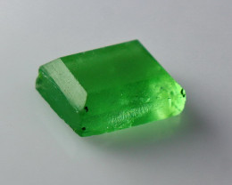 7.30 Cts Natural & Unheated~ Green Fluorite Faceted Cut Stone