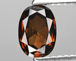 *No Reserve*Diamond 1.38 Cts Cognac Red Color Natural