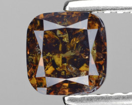 *NoReserve*Diamond 1.17 Cts Deep Honey Brown Color Natural