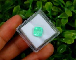 Emerald 2.14Ct Colombian Muzo Emerald Neon Mint Green Beryl A1301