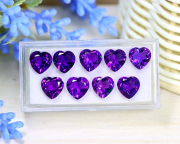 Amethyst 15.38Ct Heart Cut Natural Uruguay Violet Amethyst Lot A1310