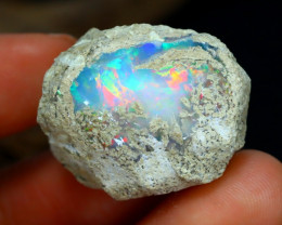 Welo Opal Rough 57.34Ct Natural Ethiopian Play Color Opal Rough A1318