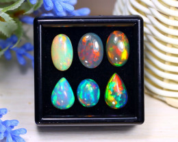 Welo Opal 13.10Ct Natural Ethiopian Rainbow Flash Welo Opal Lot A1327