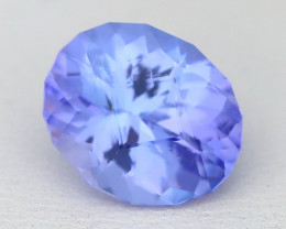 Tanzanite 3.38Ct VVS Master Cut Unheated Purplish Blue Tanzanite A1333