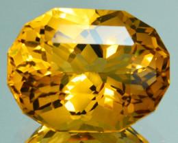 ~CUSTOM CUT~ 7.30 Cts Natural Golden Orange Citrine Fancy Oval Brazil