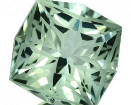 ~CUSTOM CUT~ 7.17 Cts Natural Green Prasiolite/Amethyst Cushion Fancy Braz