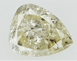 0.18 cts  , Pear Diamond , Yellow Color Diamond