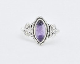 AMETHYST RING 925 STERLING SILVER NATURAL GEMSTONE AR1535