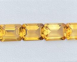 Natural Citrine 25.090 lot 6/Pc Nice Color Gemstone