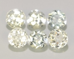 3.55  CTS EXCELLENT NATURAL WHITE ROUND QUALITY GOOD LUSTER!