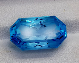 15CT BLUE TOPAZ PRECISION CUT  BEST QUALITY GEMSTONE IIGC55