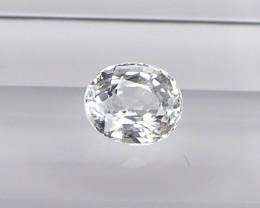 1.37ct unheated white sapphire