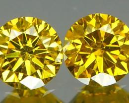 *NR Marathon* Canary Yellow Diamond Pair 0.40Ct
