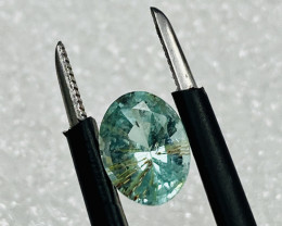 TOURMALINE PARAIBA COLOUR .- RUTILATED VERY CHEAP-Flawless-FROM COLLECTOR