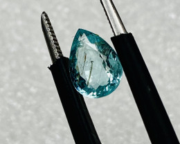 TOURMALINE -PARAIBA COLOUR RUTILATED VERY CHEAP-Flawless-FROM COLLECTOR