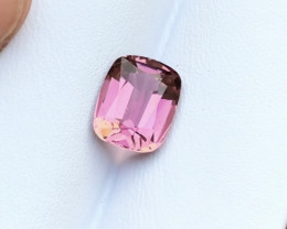 3 Carats Natural Rubelite Transparent Tourmaline Cut Stone from Afghanistan