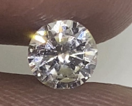 (1) Certified $813 Brilliant  0.50cts SI1 Nat White Round Loose Diamond