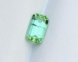2.05 Carats Natural Mint Green Tourmaline Cut Stone from Afghanistan