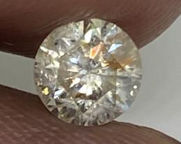 (2) Certified $1684 Stunning  0.71cts  I1 Nat White Round Loose Diamond