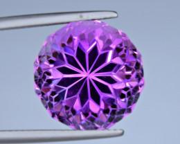Flawless 16 Carat Amethyst Top Fancy Cut Gemstone