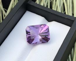 Top Grade 6.70 ct Fancy Cut Amethyst Ring Size