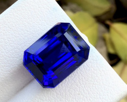 11.75 Carat Natural Stunning  D block Tanzanite Gemstone ~AW