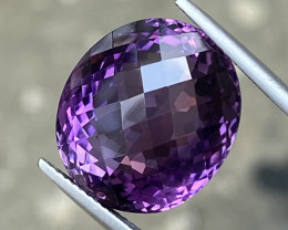 Natural Amethyst 21.040 Cts Excellent Fancy Cut Gemstone