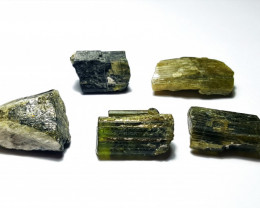 Beautiful Natural color Rough Tourmaline lot good for Cabs 100Cts T/C