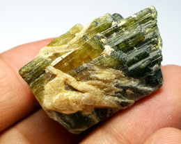 Beautiful Natural color gemmy quality rough Tourmaline Piece 123Cts-A