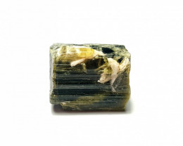Beautiful Natural color gemmy quality rough Tourmaline Piece 78Cts-A
