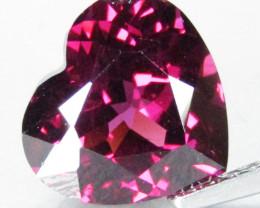 3.70Cts Genuine Natural Unheated Rhodolite Garnet Heart Shape Loose Gem Vid