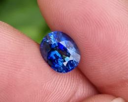 CERTIFIED 2.17 CTS NATURAL STUNNING TOP GRADE CORNFLOWER BLUE SAPPHIRE