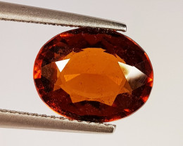 3.84 ct  AAA Grade Gem Oval Cut Natural Hessonite Garnet