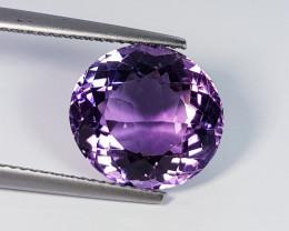 7.15 ct  Top Quality Gem  Round Cut Natural Purple Amethyst