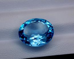 9.32Crt Blue Topaz Natural Gemstones JI49
