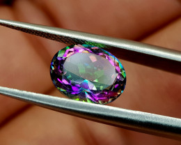 2.41Crt Mystic Quartz Natural Gemstones JI49