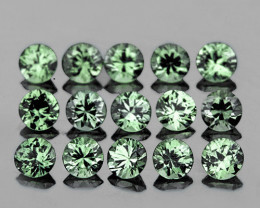 1.30 mm Round 80 pcs 1.00 ct Blue Green Sapphire [VVS]