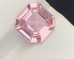 2.55 Carats Asscher cut Baby pink colour Tourmaline Gemstone From Afghanist